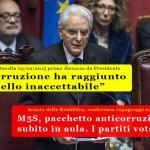 Segio Mattarella subito tradito dai partiti, no alla legge anticorruzione