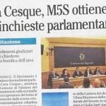 M5S: Due commissioni di inchiesta parlamentare indagheranno nel casertano
