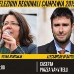 M5S #TUTTIACASERTA evento clou per le Elezioni Regionali 2015