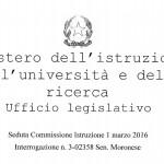 Interogazione M5S sull'Università di Cassino, ecco la risposta del Ministro che non ci soddisfa per niente