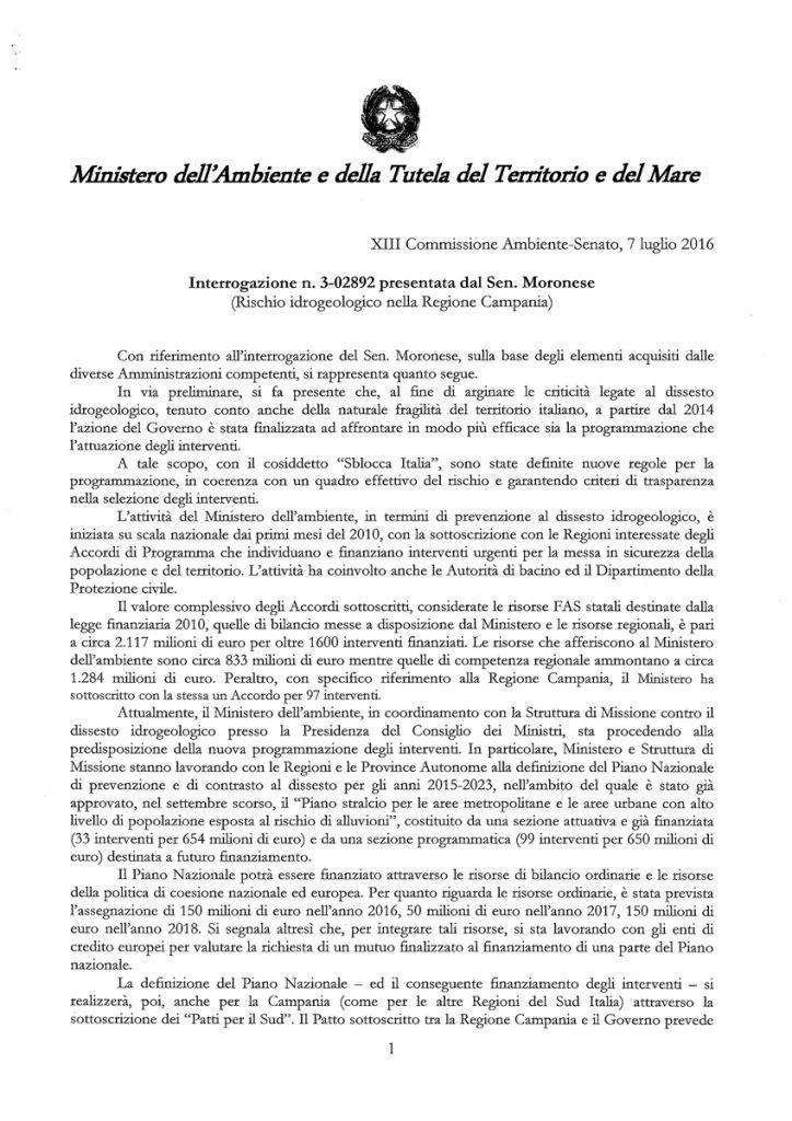07.06.2016__risposta-Ministero-interrogazione-dissesto-idrogeologico-campania-M5S-1-di-3