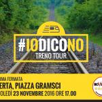 #IoDicoNO il TreNO Tour del M5S fa tappa a Caserta