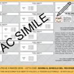 Elezioni 2018 Fac Simile scheda elettorale UNINOMINALE M5S CASERTA - SENATO