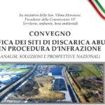 """Convegno al Senato """"Bonificadei siti di discarica abusivi in procedura d'infrazione"""" 4 dicembre 2018"""