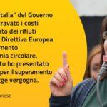 RIFIUTI, MORONESE(M5S): PRESENTATA MOZIONE PER SUPERAMENTO SBLOCCA ITALIA DI RENZI
